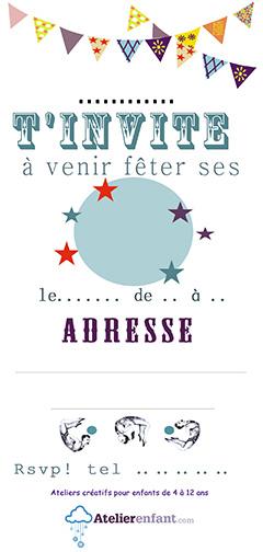 Belle Anniversaires Enfant Paris - Cartons d'invitation VQ-71